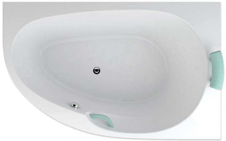 TEIKO SPINELL MONO P vana 160x100x55cm, rohová, akrylát, bílá