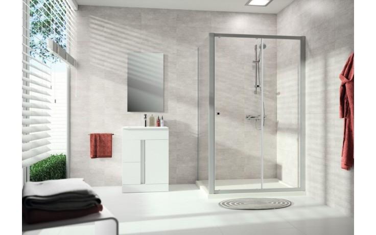 CONCEPT 100 NEW sprchové dveře 1400x1900mm posuvné, 1-dílné, s pevným segmentem, bílá/čiré sklo s AP, PTA20404.055.322