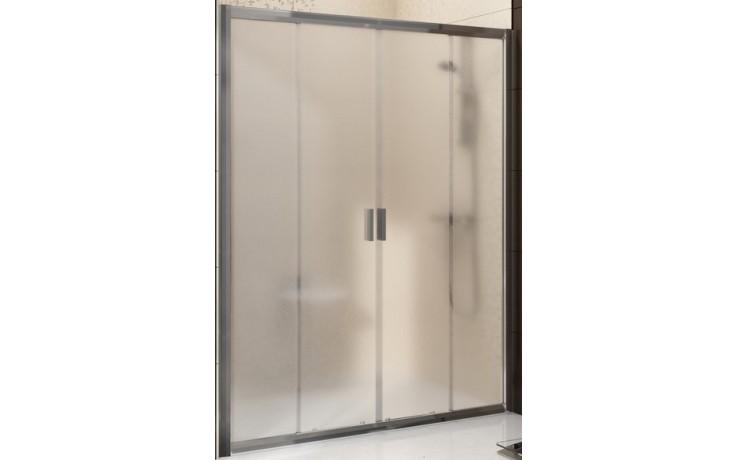 RAVAK BLIX BLDP4 140 sprchové dveře 1370-1410x1900mm čtyřdílné, posuvné satin/transparent 0YVM0U00Z1