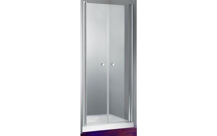 HÜPPE DESIGN 501 ELEGANCE SW 900 boční stěna 900x1900mm pro lítací dveře, stříbrná lesklá/sand plus anti-plague 8E1504.092.316