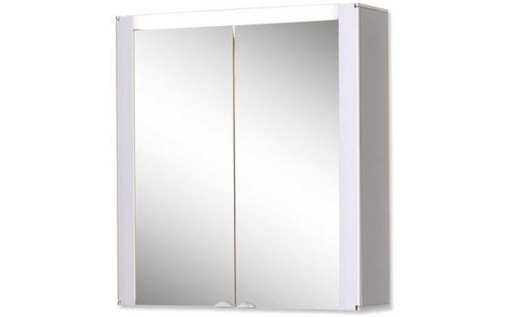 JOKEY TROMSÖ zrcadlová skříňka 63x68,5cm s osvětlením, MDF/wood, aluminium