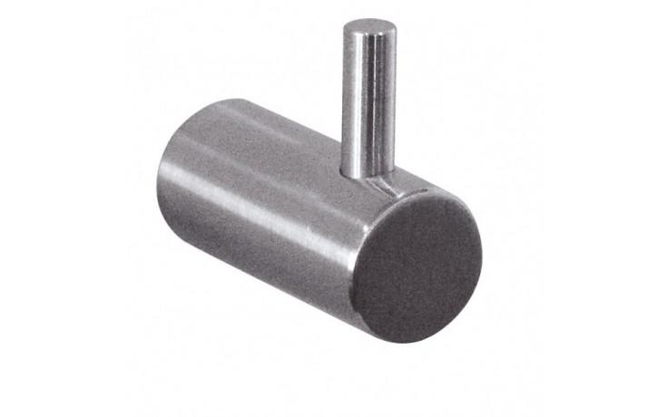 Doplněk háček , ASKJA věšák jednoduchý 40x18x24 mm matný nerez
