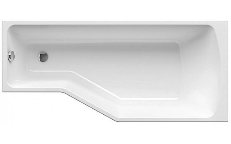 RAVAK BE HAPPY 160 L asymetrická vana 1600x750mm akrylátová, levá, bílá
