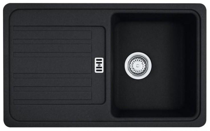 FRANKE EUROFORM EFG 614-78 dřez 780x475mm s odkapávačem, Fragranit DuraKleen Plus/onyx