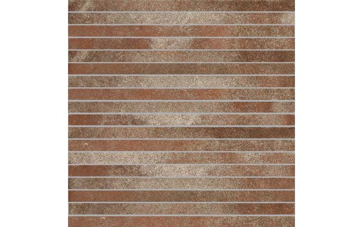 Dekor Villeroy & Boch Fire&Ice 2827/MT10 30X30cm mosaika-pásy,rezavě červená