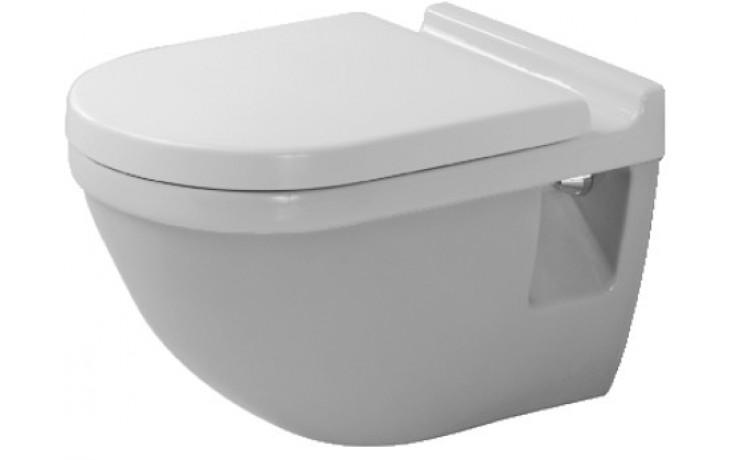 WC závěsné Duravit odpad vodorovný Starck 3 plochým splachováním 36x54 cm bílé+Wondergliss