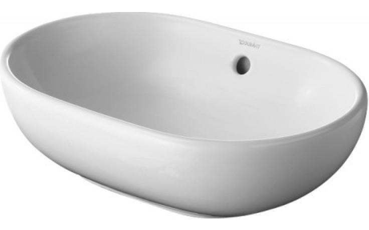DURAVIT BATHROOM FORSTER umyvadlo do nábytku 495x350mm s přetokem, bílá/wonder gliss