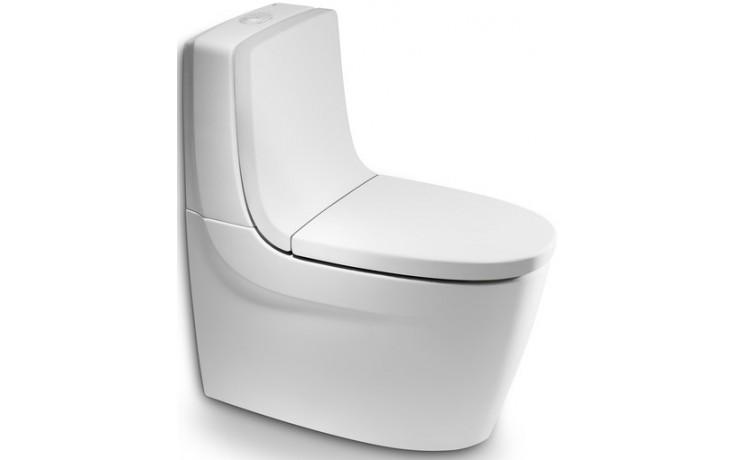 ROCA KHROMA WC mísa kombi 390x800mm hluboké splachování, vario odpad, bílá MaxiClean 734265700M