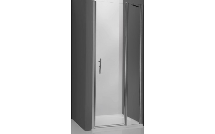 ROLTECHNIK TOWER LINE TDN1/800 sprchové dveře 800x2000mm jednokřídlé pro instalaci do niky, bezrámové, stříbro/transparent
