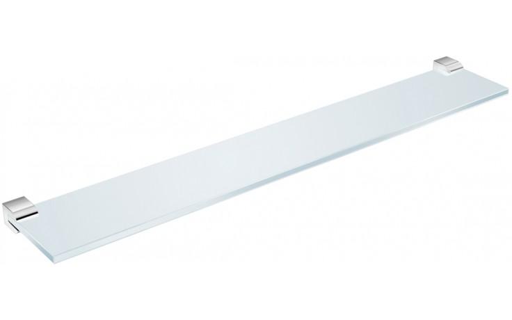 JIKA PURE skleněná polička 570x100x22mm včetně držáků, chrom/transparentní sklo 3.853B.2.004.000.1