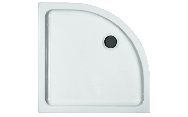 LAUFEN MERANO keramická sprchová vanička 800x800x65mm čtvrtkruhová, rádius 550mm, bílá 8.5295.3.000.000.3