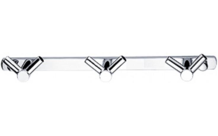 Doplněk háček Nimco Bormo dvojitý se třemi háčky 21,8x4,1x2,4 cm chrom