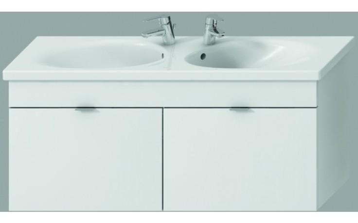 JIKA TIGO skříňka s dvojumyvadlem 1220x370x520mm se 2 zásuvkami, bílá 4.5519.5.021.500.1