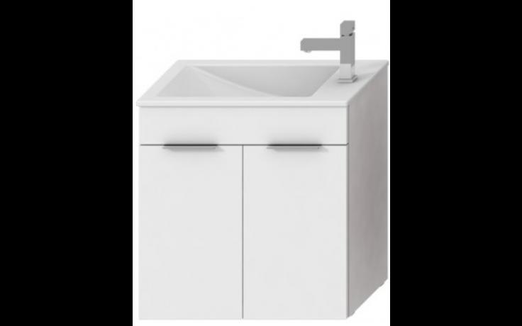 JIKA CUBE skříňka s umyvadlem 500x340x607mm, bílá/bílá 4.5364.1.176.300.1