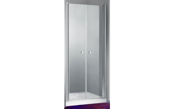 Zástěna sprchová dveře Huppe sklo Design elegance 90x190cm bílá/Sand Plus