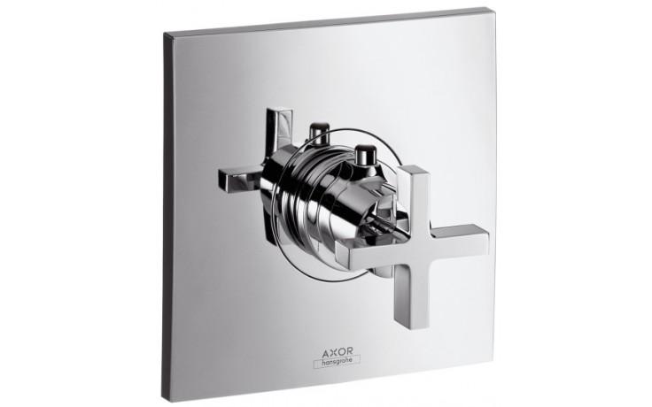 AXOR CITTERIO termostatická baterie pod omítku s kohoutem ve tvaru kříže 43 l/min chrom 39715000