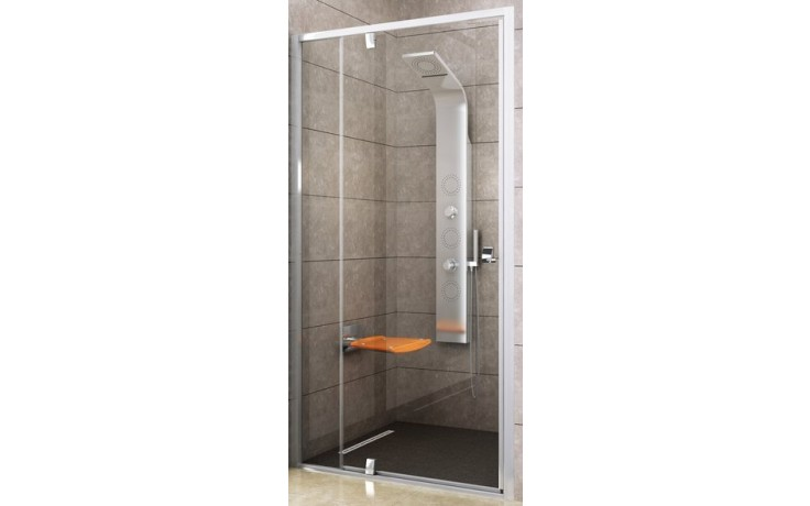 Zástěna sprchová dveře Ravak sklo Pivot PDOP2-120 1200x1900 mm bílá/bílá/transparent