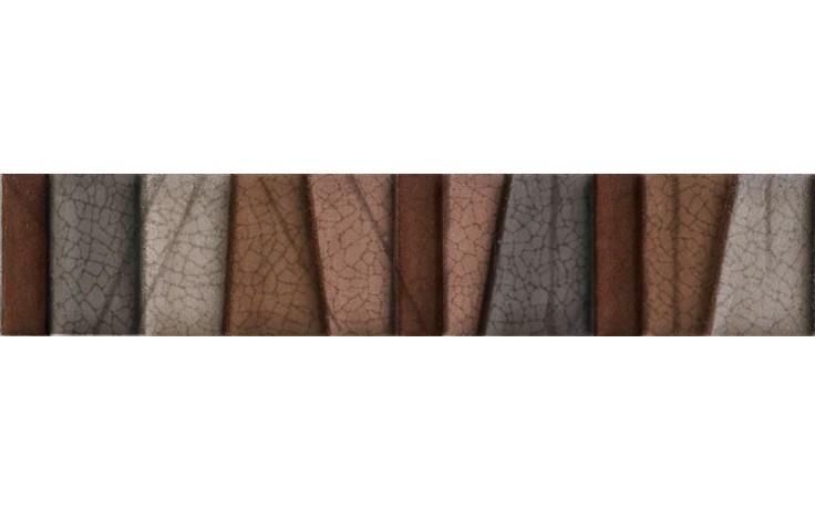 IMOLA PRISMA listela 4x20cm brown, L.TRAPEZI T