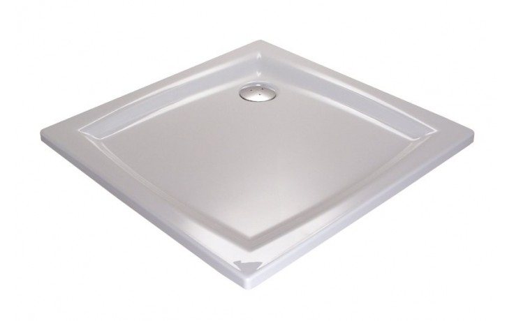 Vanička plastová Ravak čtverec PERSEUS 100 EX 100x100x17,5 bílá