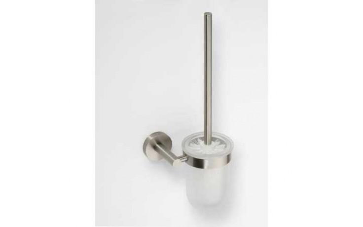 Doplněk WC sada GOZ METAL Inox II, WC štetka sklenená 140x345x117mm chrom