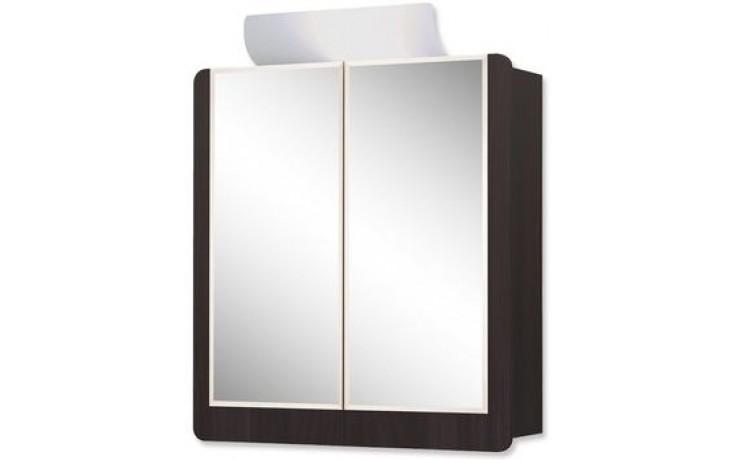 JOKEY VARDÖ ECO zrcadlová skříňka 65x80cm s osvětlením, MDF/wood, white/wenge