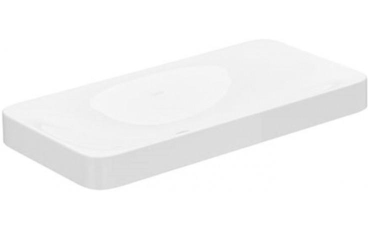 KEUCO EDITION 400 nábytkové umyvadlo 800x400x75mm, bez otvoru, bez přepadu, bílá