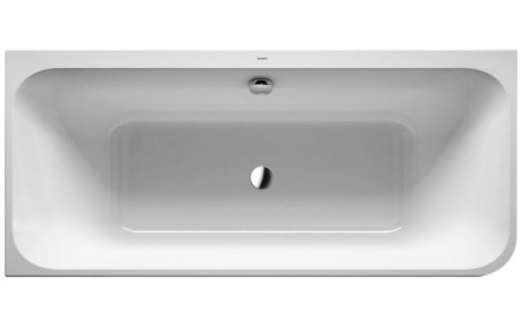 Vana plastová Duravit - Happy D.2 do levého rohu s panelem a nohami 180x80 cm bílá