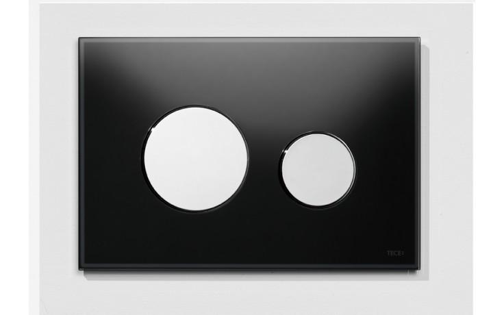 Předstěnové systémy ovládací desky TECE TECEloop  sklo černé/lesklý chrom