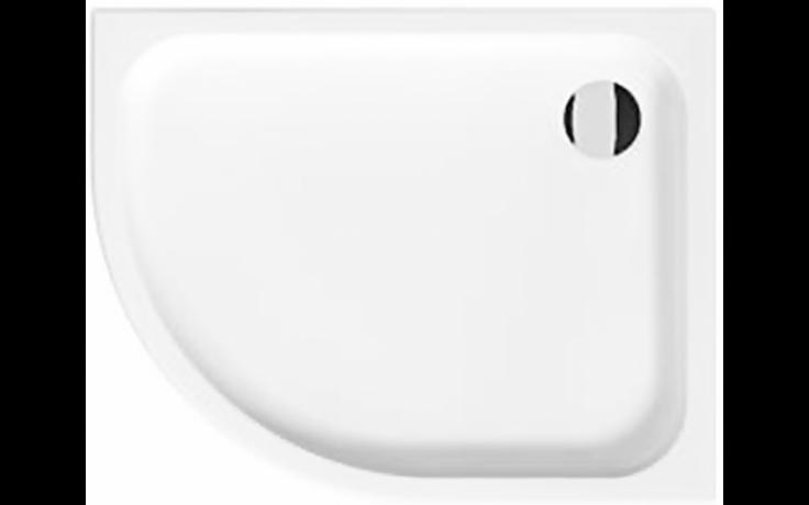 JIKA TIGO sprchová vanička 1000x800x85mm, R550 asymetrická, pravá, bílá