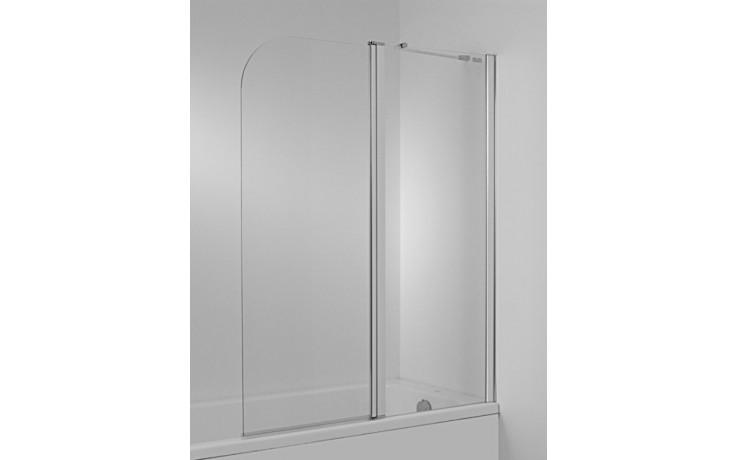Zástěna vanová Jika - Cubito pravá 2-dílná 115x140 cm transparentní