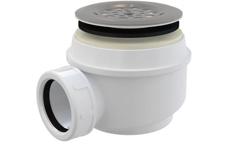 CONCEPT vaničkový sifon Ø60mm, s nerezovou mřížkou, chrom