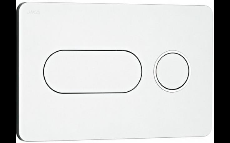 JIKA PL8 tlačítko Dual Flush, 250x160mm, matný chrom, lesklý kroužek 8.9364.6.007.000.1