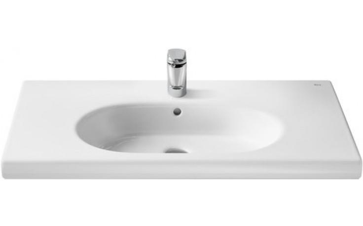 Umyvadlo nábytkové Roca s otvorem Unik Meridian 84,6 cm bílá