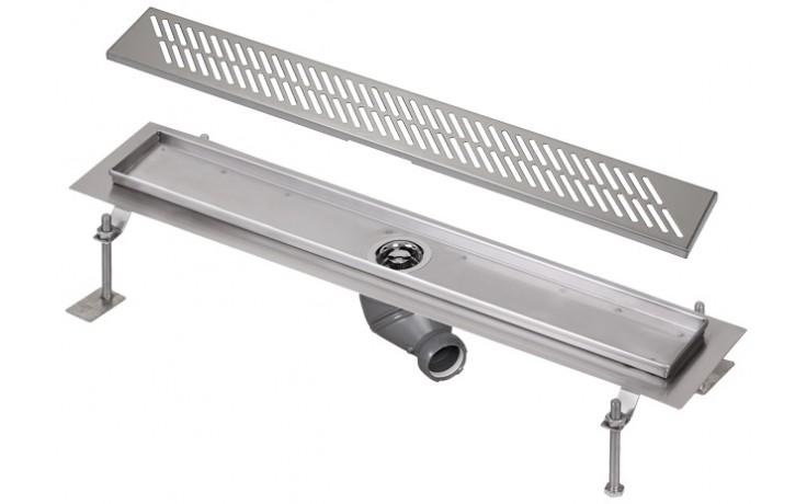 SANELA SLKN05DX koupelnový žlábek 1150mm do prostoru, nerez mat