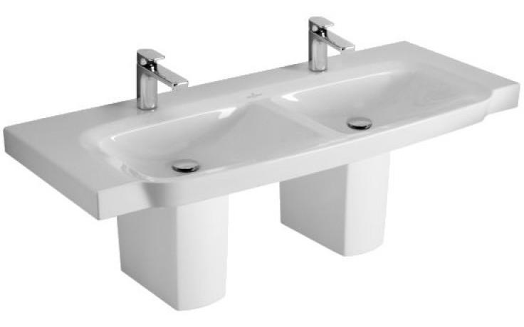 Umyvadlo nábytkové Villeroy & Boch s otvorem Sentique dvojité 1300x520mm Bílá Alpin Ceramicplus