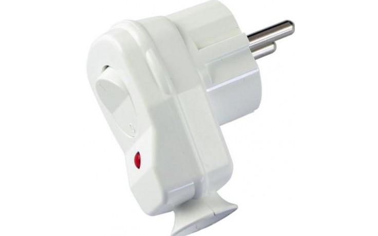 CONCEPT vidlice s vypínačem 16A/250V VS-BÍLÁ