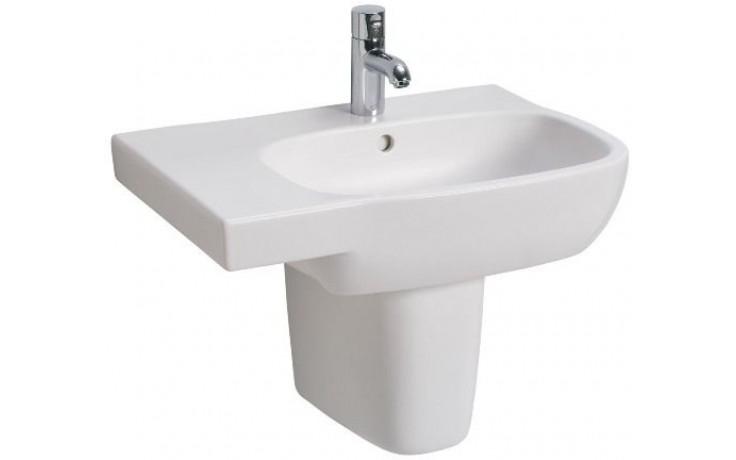 Umyvadlo klasické Kolo s otvorem Style asymetrické levé 65x46 cm bílá