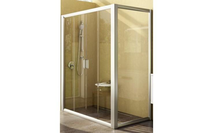 Zástěna sprchová dveře Ravak sklo RPS-100 pevná stěna 100x1900 satin/čiré