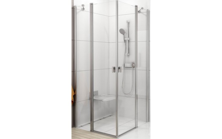 RAVAK CHROME CRV2 90 sprchový kout 880-900x1950mm rohový satin/transparent 1QV70U00Z1