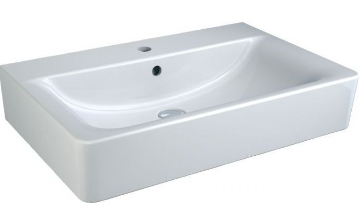 Umyvadlo klasické Ideal Standard s otvorem Connect Cube 70x46 cm bílá+IDEAL PLUS