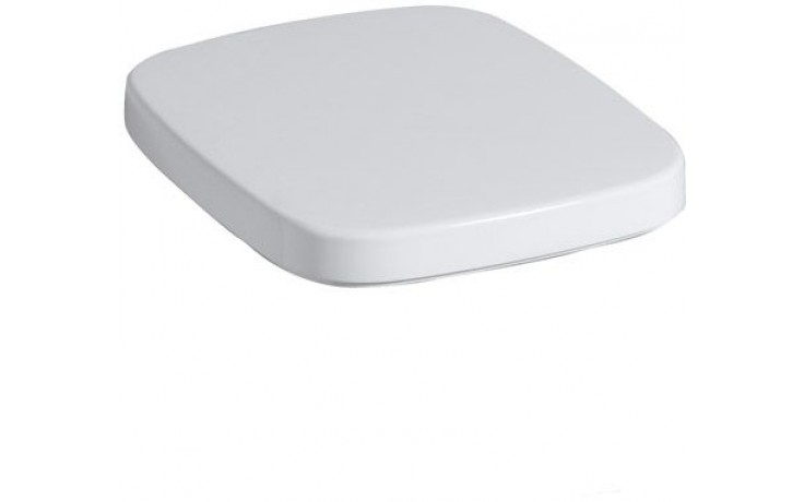 Sedátko WC Keramag duraplastové s kov. panty Silk s pozvolným sklápěním bílá