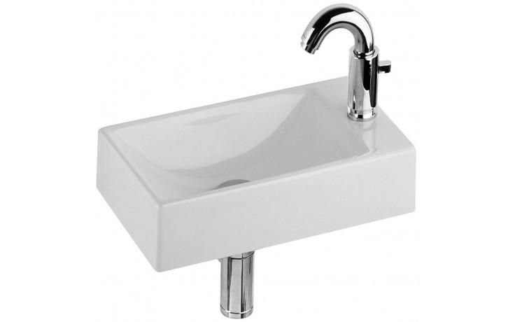 Umývátko klasické Kolo s otvorem Quattro 40x23x11,5 cm bílá+Reflex