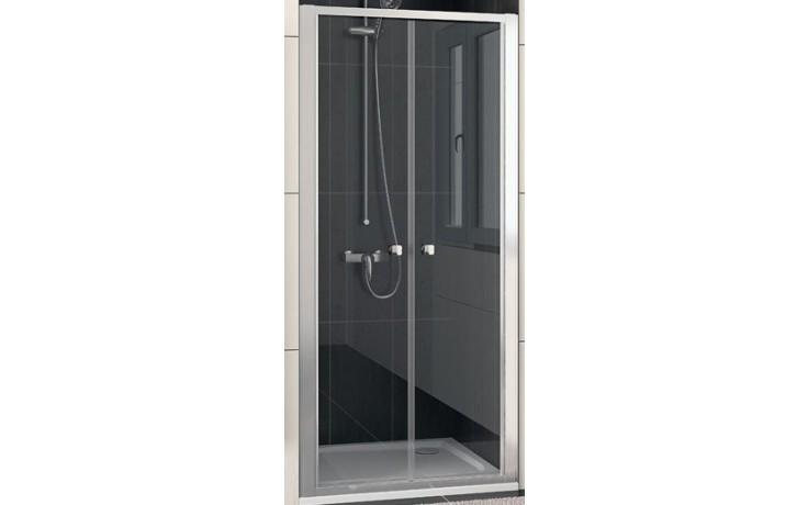 SANSWISS ECO LINE ECP2 sprchové dveře 900x1900mm dvoukřídlé, matný elox/sklo Durlux
