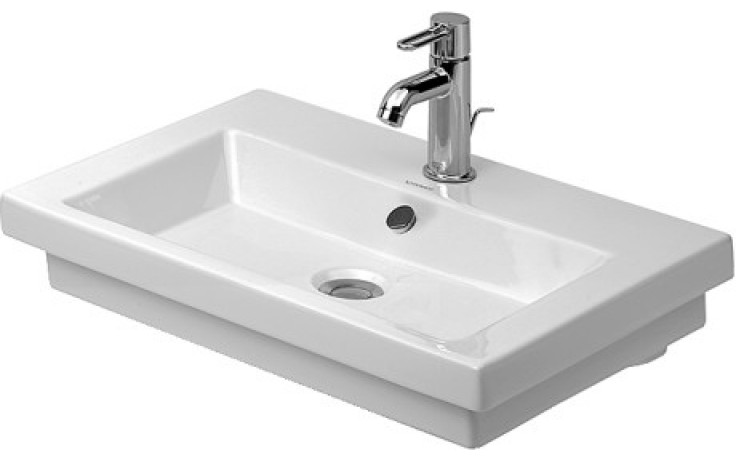 Umyvadlo klasické Duravit s otvorem 2nd floor 60x43cm bílá+wondergliss,broušené