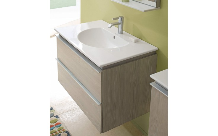 Nábytek skříňka pod umyvadlo Duravit Darling New 80x54,5 cm Bílá matná/Pine Silver