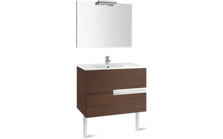 Nábytek sestava Roca Pack Victoria-N skříňka s umyv.+zrcadlo s osvětlením 90 cm bílá