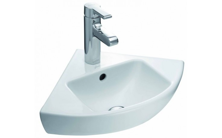 Umývátko rohové Kohler s otvorem Reach 34x34cm bílá