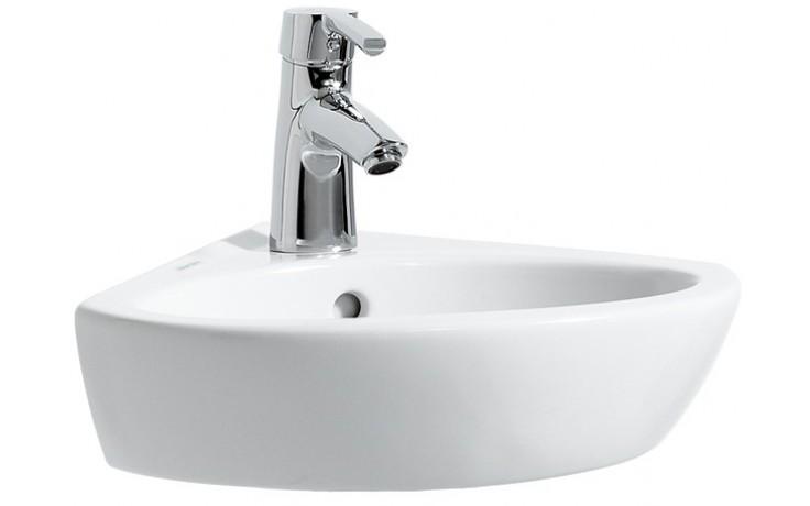 LAUFEN PRO B rohové umývátko 440x380mm s otvorem, bílá