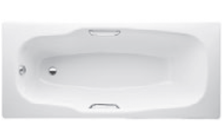 JIKA PRAGA vana klasická 1700x800mm ocelová, včetně madel, bílá