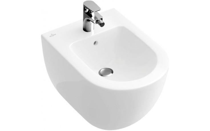 VILLEROY & BOCH SUBWAY 2.0 bidet Compakt 355x480mm s přepadem, Star White CeramicPlus 540600R2